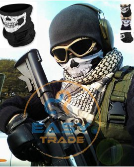Skull Face Mask Bandana Neck Tube Scarf