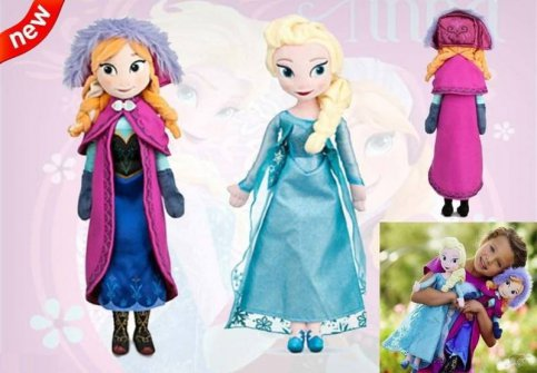 Disney Frozen Elsa & Anna Plush Doll set 40cm NEW