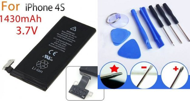 iPhone 4S Battery Replacement with Opening Tools