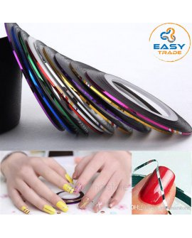 Nail Art Decoration 10 Color Striping Tape Line