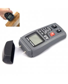 Mini 2Pins LCD Wood Moisture Meter Humidity Tester