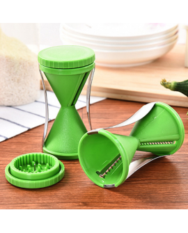 Funnel Spiral Slicer Vegetable Shred Device Cutter