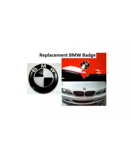 REPLACEMENT BMW BADGE 82MM BONNET OR BOOT x 1